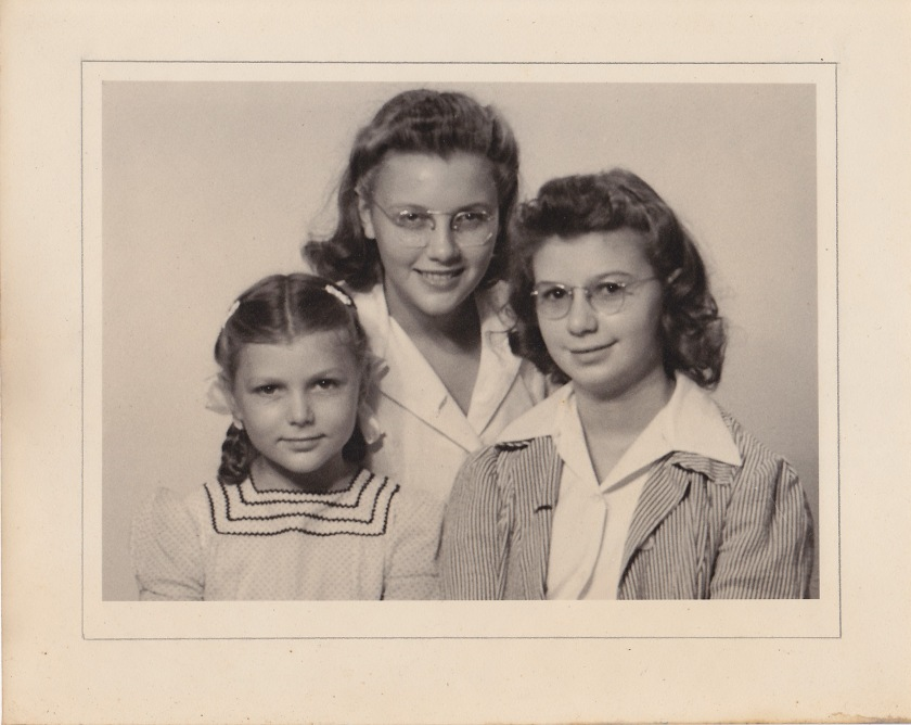 Nancy, Susie, and Caroline about 1944